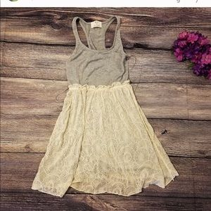 Lace Bottom Dress by Pins and Needles